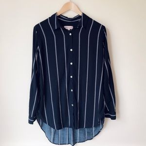 Philosophy Stripped Hi-Lo Button-Down Shirt
